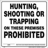 Vermont Hunting Prohibited sign