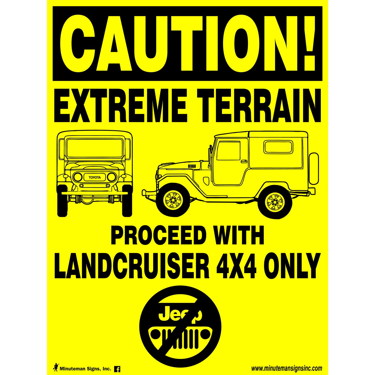Landcruiser Only Poly Sign