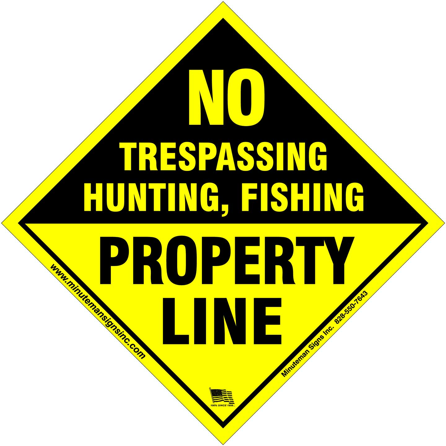 Property Line small aluminum Posted sign