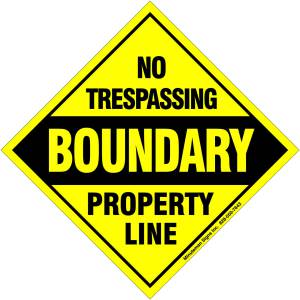 No Trespassing Signs Property Marker Line